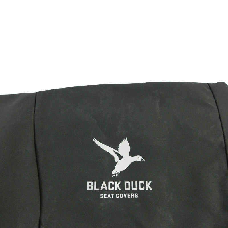Black Duck Canvas Black Seat Covers Toyota Hilux SR5 8th Gen Dual / Xtra Cab 7/2015-On