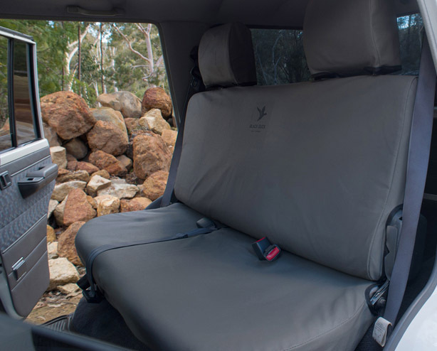 Black Duck Canvas Seat Covers Ford Ranger Pj 2 2007 2 2009