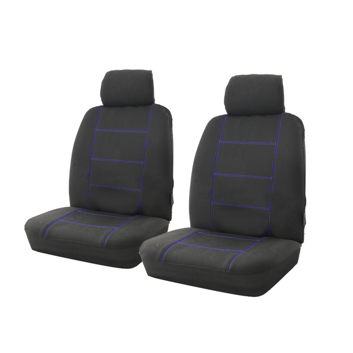 wet n 39 wild neoprene wetsuit seat covers blue stitching. Black Bedroom Furniture Sets. Home Design Ideas