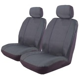 Custom Made Canvas Car Seat Covers Nissan Navara D22 Dual Cab 04/1997-On Front + Rear