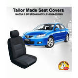 Custom Car Seat Covers Mazda 3 BK Sedan/Hatch 01/2004-03/2009 Airbag Safe Black Grey