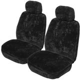 Snowyfleece 25mm Sheepskin Lambswool Seat Covers 5 Years Warranty Deploy Safe Pair