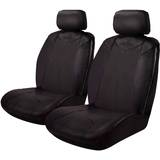 Black Bull Leather Look Seat Covers Airbag Deploy Safe - Black Size 30