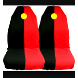 AXS Car Seat Cover Aboriginal Slip On Throw Over Single Black Red Airbag Safe
