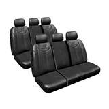 Custom Made Black Leather Look Seat Covers Hyundai Imax TQ Van 05/2011-On Middle and Rear Row Only