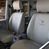 Black Duck Denim Grey Seat Covers Toyota Hiace Van 2005-On