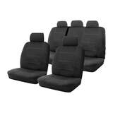 Neoprene Seat Covers Set Suits Volkswagen Amarok 2H Dual Cab 2/2011-On Wetsuit 2 Rows.