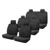 Neoprene Seat Covers Set Suits Holden Captiva 7 Series II LS / LT / LTZ 4/2013-On Wetsuit 2 Rows