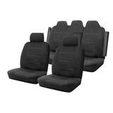 Neoprene Seat Covers Set Suits Toyota Camry ASV50R Hybrid H / HL Sedan 3/2012-On Wetsuit 2 Rows