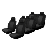 Esteem Velour Seat Covers Set Suits Toyota Fortuner 8/2015-On 3 Rows Black