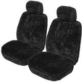 Sheepskin Seat Covers set suits Isuzu MU-X 11/2013-On Front Pair Drover 16mm Black