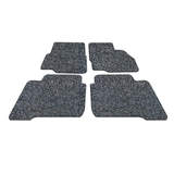 Koil Black/Grey Floor Mats Front & Rear PVC Coil
