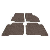 Koil Brown/Beige Floor Mats Front & Rear PVC Coil