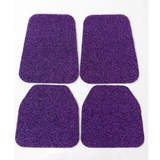 Koil Black/Purple Floor Mats Front & Rear PVC Coil