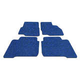 Koil Black/Blue Floor Mats Front & Rear PVC Coil
