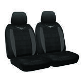 RM Williams Longhorn Black Suede Velour Car 4WD Seat Covers RMW