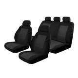 Custom Seat Covers Skoda Octavia VRS 135TDi / 162TSi Wagon 1/2014-On Esteem Velour 2 Rows Black