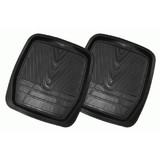 Floor Mats Rear Rubber High Country Black One Pair FMHR201