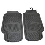 Sentry Rubber Floor Mats Front - Black Pair