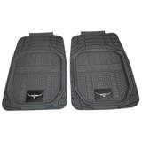 RM Williams Heavy Duty Rubber Floor Mats Front Pair Grey