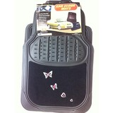 Butterfly Floor Mats Set of 4 Heavy-duty Carpet Rubber