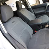 Wet Seat Grey Neoprene Seat Covers Mitsubishi Pajero NS-NX All (Except GLS/VRX/ Exceed) 3 Door Wagon 11/2006-On