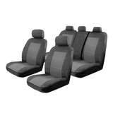 Esteem Velour Seat Covers Set Suits Hyundai Accent RB Active Elite Premium 4 Door Sedan 7/2011-On