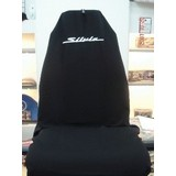 AXS Car Seat Cover Suits Nissan Silvia Slip On Throw Over Embroidered Single Black