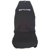 AXS Car Seat Cover Nissan Skyline Slip On Throw Over Embroidered Single Black
