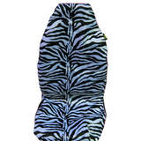 Hot Zebra Seat Covers Front 60/25 Black/White