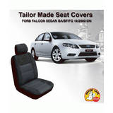 Custom Seat Covers Ford Falcon Sedan BA BF FG XT 10/2002-On Airbag Safe Front & Rear