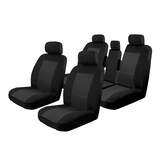 Car Seat Covers Toyota Kluger 5 Seater 08/2007-On Airbag Safe Black