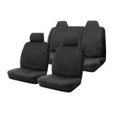 Canvas Seat Covers Ford Falcon BA BF FG Sedan 10/2002-On Airbag Safe Black Front & Rear
