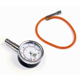 Dial Tyre Gauge With Extension Hose/Dual Scale Lbs/Kpa Metal Body