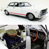 1:18 Classic Carlectables Ford XR GT Falcon Avis White 18551