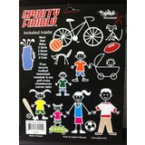Funky Sporty Family Sticker Set Of 22 Stickers