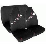 Pink Ribbon Front And Rear Seat Cover Pack