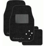 Car Mats Southern X Cross Black P/N - CMSCBLKS