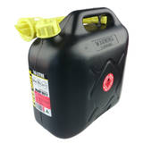 'Fuel Safe' Heavy Duty Plastic Fuel Can 10 Litre - Black FC10B