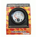 White Face Electric Voltmeter Gauge