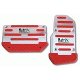 Matrix Racing Pedal Pads - Red-Auto