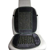 Beaded Car Seat Cushion Black With Cloth Trim BS22BK Bead