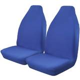 Throw Over Slip On Seat Cover Fits Most Cars One Pair Blue