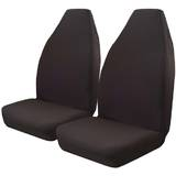 Throw Over Slip On Seat Cover Fits Most Cars One Pair Black