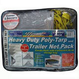 Poly-Tarp And Cargo Trailer Net 5x7 & 6x4 Adjustable Tarpaulin Combo Pack PTTN57