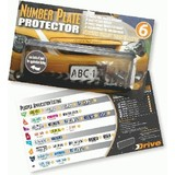 Perspex Number Plate Frames 6 Figure Slim Line Vic, Qld, Nt, Sa, Wa, Tas, Act Np634