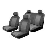 Seat Covers Set Suits Nissan Almera N17 Ti Sedan 8/2012-On Esteem Velour 2 Rows