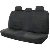 Wet N Wild Neoprene Wetsuit Black Rear Car Seat Covers White Stitching