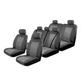 Esteem Velour Seat Covers Set Suits Land Rover Discovery 4 SE / HSE 12/2012-On 3 Rows