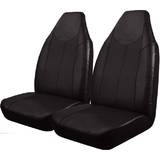 Black Bull Leather Look Seat Covers Size 25 Airbag Deploy Safe - Black